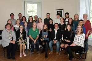 Participants in the student concert showcase at the Wexford School of Music.