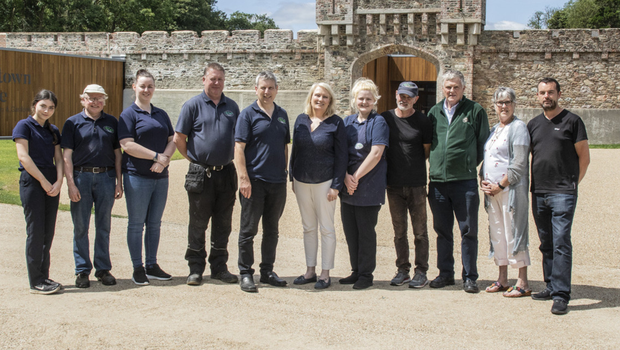 Staff of Johnstown Castle Estate and Gardens at the entrance to the new visitor centre