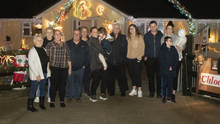 Tony Kehoe and members of the Walsh family at the turning on of the lights