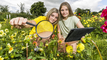 Sisters Ali and Clodagh Funge, from Gorey, who were on hand to announce that BT Ireland is calling on students to enter the BT Young Scientist & Technology Exhibition 2021 before September 22