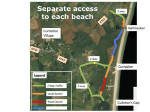 The changes aimed at easing traffic congestion around Curracloe.