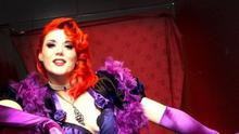 Foxy P.Cox, who hosts the Peacock Parlour