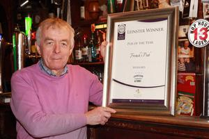 Jim French with his Pub of the Year award.