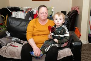 Mary McGuire and her son Cian