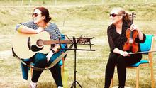 Emily and guest musician Anne Marie Stafford performing at MHID Units, Enniscorthy last summer