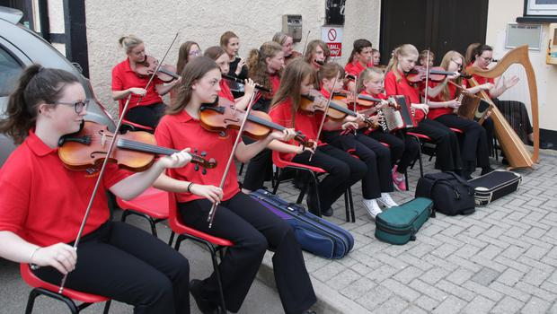 The Danescastle National School band performing at the opening of the Phil Murphy Weekend