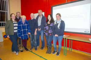 Concerned residents (from left) Jennifer Scahill, Noel Hayes, Mary Forde, John Hayes, Noel Carroll, Helen Murphy and Katja Hayes.