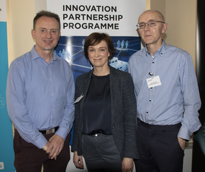 At the Agile Innovation Supports Event hosted by Enterprise Ireland in the Maldron Hotel on Thursday morning were David Sheehan (Fastform Research), Anita Harte (Hartecast Clonroche) and Sean Donnelly (Fastform Research)