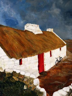 'Thatched Cottage in Harvest' by Patricia Gellon