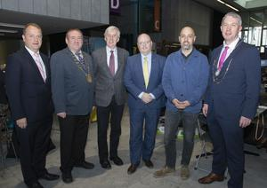Tom Enright (CE, Wexford County Council), Cllr Keith Doyle (chairman, Wexford County Council), John Flahavan (Flahavans Foods), Colm Blake (Zurich), Paul Mallon (Paddy Powers) and Niall Reck (president, Wexford Chamber)