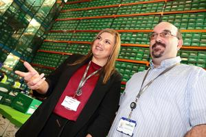 Lisa Collins from Datapac and Jonathan Collins of Kefron