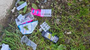 Some of the drug paraphernalia found in a laneway in Talbot Green