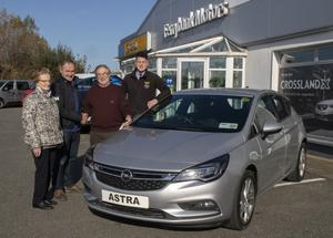 Sean McDermott, winner in the Wexford Credit Union Car Draw, with his wife Margaret, David Maguire of Wexford Credit Union, and Liam Ryan, Ferrybank Motors