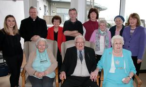 Eugene and Mary Conway from Pinewood Estate celebrating their 50th anniversary in Wygram Nursing Home.