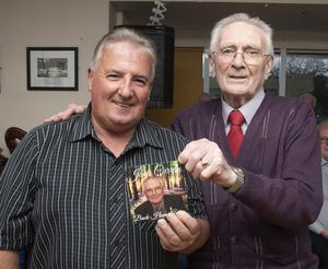 Tony Kehoe, who launched the CD, with Jack Curran