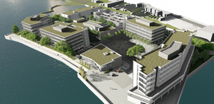 An artist's impression of the Trinity Wharf proposal