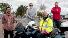 Cllr Leonard Kelly, Mayor of Wexford; Colette Nolan, Ron Evans and Abraham Allen at the launch of the Blood Bikes drive for new premises on Wexford Quay