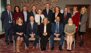 The Visit Wexford team (from left), back -  Aedan Jameson, Siobhan O'Neill, Damien Lynch, Tom Bermingham, Sarah Caufield, Paul Mernagh, Sinead Casey, Paul Finegan, Maura Bell and Louise Jordan; front - Jean O'Connell, Tom Banville, Norma Quinsey, Colm Neville (chairman) and Orla Woods. Inset, left: Norma Quinsey, Visit Wexford's new Destination Marketing Manager.