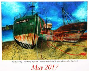 Lucy Fahy's 'Harbour' illustrates the month of May in the new Texaco Children's Art calendar.