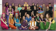 Pupils of Scoil Mhuire Coolcotts rehearsing for their show Aladdin