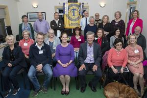 Members of Wexford Toastmasters with club president Eddie Cassidy