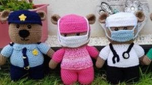 Covid frontline workers are crocheted and ready for action