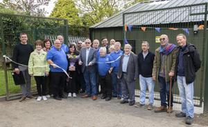 Anthony Kelly officially opening the new Wexford Working Men's Club at Redmond Park