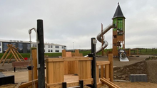 Shaping up: part of the playground at Min Ryan Park