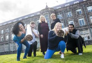 Big move: Iris Whelan, John Sinnott, Dr Janette Davies, Deputy Head, Wexford Campus, Deirdre Frankis, Samantha Keating and Korrey McLean at Wexford Campus on Summerhill for the announcement of the outdoor ban