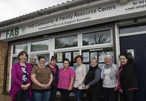 Staff outside FAB in Coolcotts