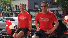 Daniel Owen and Gavin O'Donovan taking part in Innovate's Cycle for MS
