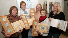 Getting crafty: Helen Kelly, Kathleen Cahill, Mairead Stafford, Mary Finnegan and Susan Eccleston, Support Manager, Family Carers Ireland