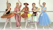 Sadhbh Neville, Beth Miller, Kayla Smith, Aoibhin McGrath and Ciana Cummings who are taking part in The Nutcracker at the National Opera House