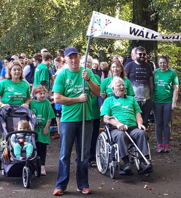 Members of the Murtagh family and attendees at the walk at John F Kennedy Arboretum