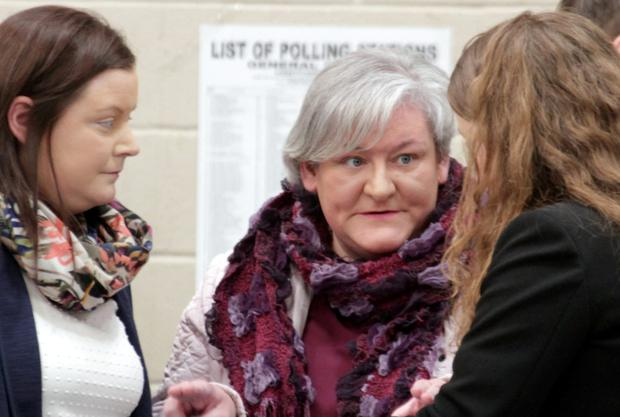 Caroline Foxe at the count centre in Wexford on Saturday.