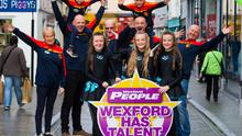 On course for the 2019 Wexford Has Talent competition: the organising committee of Marion Roice, Kevin Carty, Frank Clancy, Kilian Duignan and Enda Whelan, with (shoulder high) Eoin and Jack Whelan, Ella Grant, Katie O'Connor and Anna Jeffares from the Sullivan Academy of Irish dance
