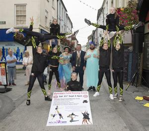 Gymstars, supported by George Lawlor, Mayor of Wexford, Missy Fortune and Baroness Von Boomdea