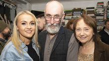 Daithí Kavanagh with his wife Caroline and daughter Ella