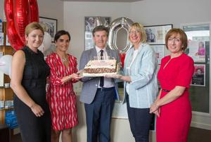 Happy birthday: Grace Kelly, Patricia Boyce, Daniel O' Donnell, Deputy Mayor Maura Bell and Yvonne Doyle at the 10th anniversary event