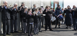St Patrick's Fife and Drum Band supplied the music for the event