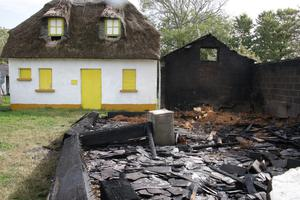 The damage caused by the blaze at the Yola Farmstead in Tagoat on Sunday