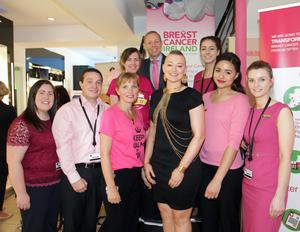 Happy shoppers met with Eimear Coghlan, cancer survivor and creator of popular beauty blog Ahead With Style