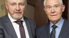 Michael Doyle, who launched the journal, and society president Paddy O'Reilly