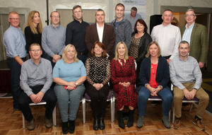 At the Crossabeg/Ballymurn Community Centre Silver Circle Draw in Ferrycarrig Hotel were the committee, back row: Mick McLoughlin, Helen Moore, Fergus Moore, Tommy Kinlough, Pat Gately, Sean Kehoe, Shelia Kelly, Donnacha McDonald and Billy Sweetman. Seated: Tom Bermingham, Geraldine Cullen, Bernie Kieley, Mary Keating,Avril Murphy and Bobby Kenny