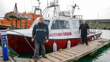 Eamonn Hayes (right) with his charter boat Autumn Dream, and his brother Nick who also has a charter boat in Kilmore Quay