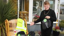 Alice Doyle of the IFA and Wexford Mental Health Association with some of the care bags