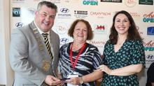 County Council deputy chairman George Lawlor, Mayoral Award winner Kay Lewis and Sinéad Rice of the National Gallery