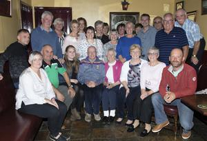 Jack Berney (100) and his niece Bridie Kelly (90) celebrating their birthdays in The Sycamore Bar, Killurin