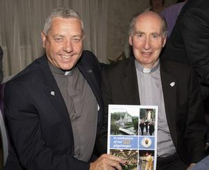 Fr David Murphy and Bishop Denis Brennan, who launched the book