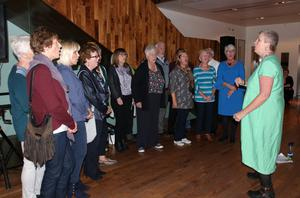 The Quay Notes Community Choir from Kilmore performing in the National Opera House